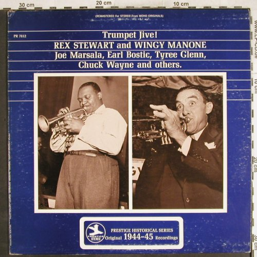 Stewart,Rex and Wingy Manone: Trumpet Jive ! Joe Marsala,Bostic.., Prestige(PR 7812), US,m-/vg+, 1972 - LP - H7242 - 6,00 Euro