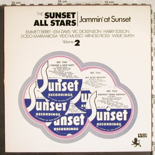 V.A.Sunset All Stars: Jammin' at Sunset,Vol.2, vg+/m-, Black Lion(BLP 30113), NL, 1971 - LP - H7262 - 4,00 Euro