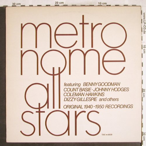 Metronome All Stars: feat.B.Goodmann,C.Basie..Dizzy, TAX(m-8039), S,  - LP - H7460 - 7,50 Euro