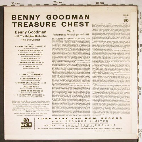 Goodman,Benny: Performance Recordings 1937-1938, MGM(MGM C 805), UK,Vol.1/3,  - LP - H7894 - 20,00 Euro