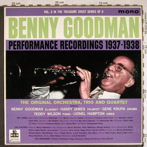Goodman,Benny: Performance Recordings 1937-1938, MGM(MGM C 807), UK,Vol.2/3,  - LP - H7895 - 20,00 Euro