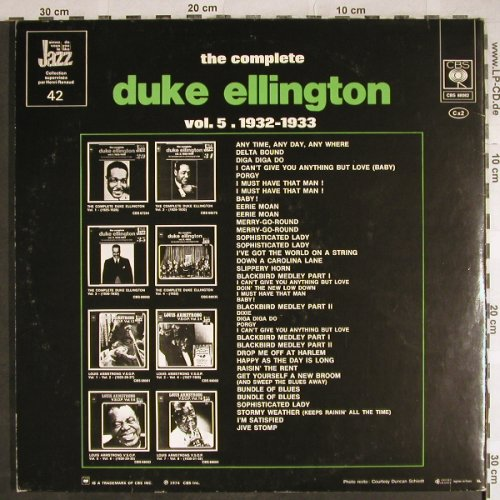 Ellington,Duke: The Complete Vol. 5, 1932-33, Foc, CBS(CBS 88082), F, 1974 - 2LP - H7910 - 7,50 Euro