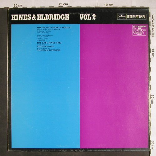 Hines,Earl & Roy Eldridge: Vol.1 & 2, Mercury(134 591/606 MFY), NL, 1969 - LP/2 - H7929 - 20,00 Euro