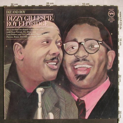 Gillespie,Dizzy & Roy Eldridge: Diz And Roy, Foc, m /vg+, Verve(2632 075), D, Ri, 1977 - 2LP - H7931 - 20,00 Euro