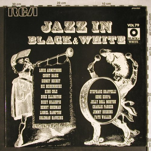 V.A.Jazz In Black and White Vol. 79: Armstrong...Stephane Grappelli, Foc, RCA(JPGH004), F, 1973 - LP - H8297 - 6,00 Euro
