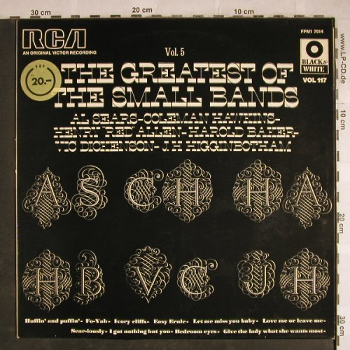 V.A.The Greatest of the Small Bands: Vol.5,Al Sears,Coleman Hawkins..., RCA (Vol.117)(FPM1 7014), F,  - LP - H8298 - 5,50 Euro