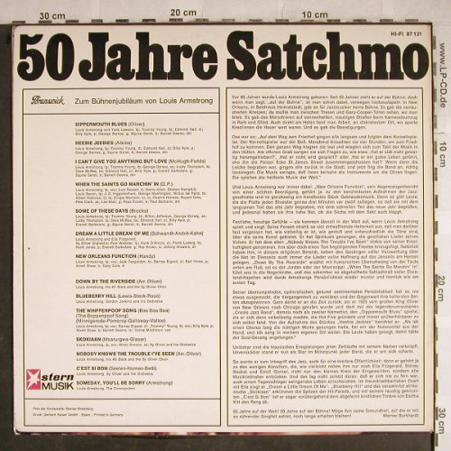Armstrong,Louis: 50 Jahre Satchmo..., vg+/m-, Brunswick/Stern Musik(87 121), D, 1965 - LP - H8620 - 6,00 Euro