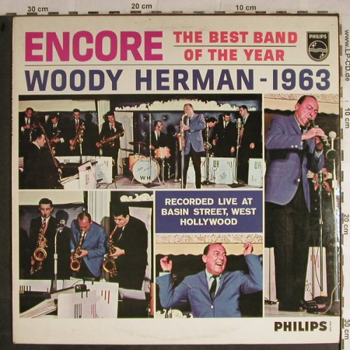 Herman,Woody: Encore,Best Band of the Year, Philips(652 034 BL), NL,vg+/vg+, 1963 - LP - H8851 - 9,00 Euro