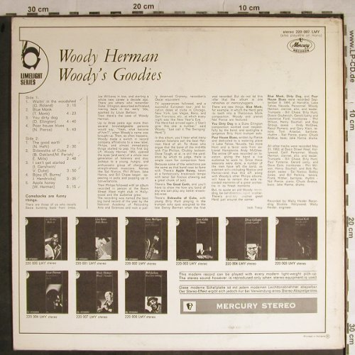 Herman,Woody: Woody's Goodies,Sample-Stol,vg+/vg+, Mercury(220 007 LMY), NL, STOC,  - LP - H8852 - 9,00 Euro