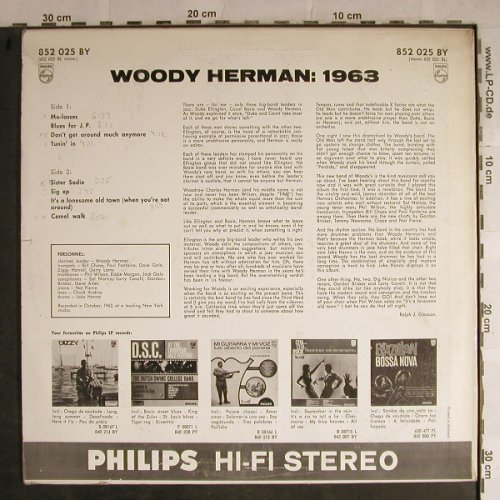 Herman,Woody: 1963-The Swingin'Est Big.B.ever, Philips, STOC(852 025 BY), NL,m-/vg+, 1963 - LP - H8853 - 15,00 Euro