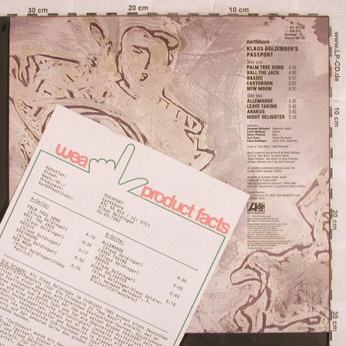 Passport: Earthborn, Facts, Atlantic(ATL 50 913), D, 1982 - LP - H9754 - 9,00 Euro
