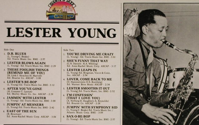Young,Lester: Same, m-/vg+, Giants Of Jazz(LPJT 9), I, 1984 - LP - H994 - 6,00 Euro
