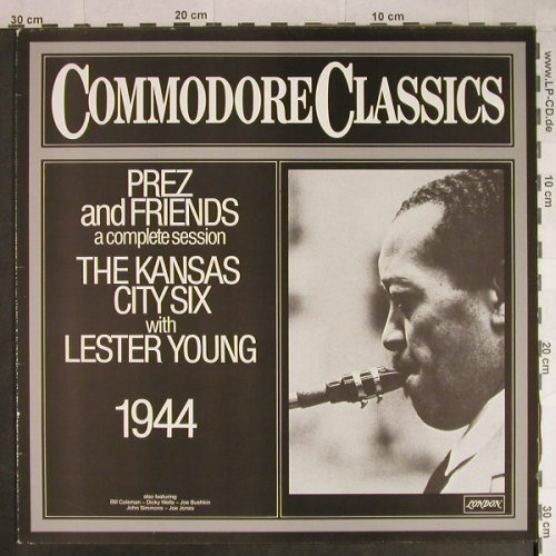 Kansas City Six w. Lester Young: Prez and Friends, vg+/m-, Commodore(6.24292 AG), D, 1980 - LP - H996 - 6,00 Euro