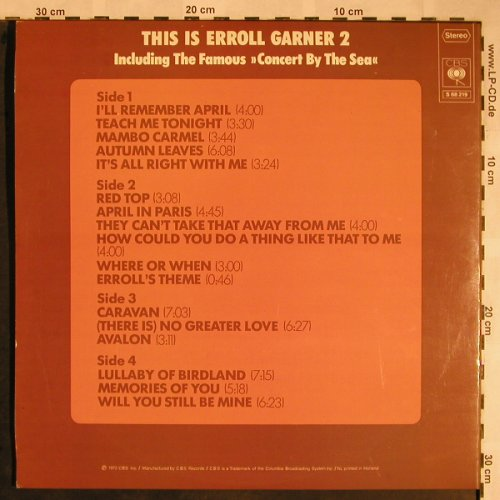 Garner,Eroll: This is 2 ,Foc, CBS(CBS S 68 219), NL, 1972 - 2LP - X1473 - 9,00 Euro