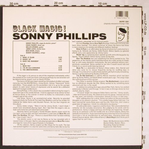 Phillips,Sonny: Black Magic !, BGP Rec.(BGPD 1081), UK,  - LP - X1554 - 14,00 Euro
