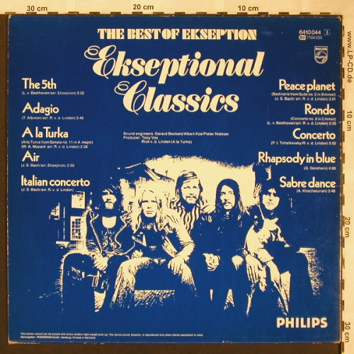 Ekseption: Ekseptional Classics,The Best of, Philips(6410 044), D,  - LP - X1663 - 5,50 Euro