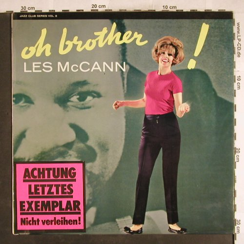 Mc Cann,Les: Oh Brother, Stoc, < vg+/vg+, Fontana(683 258 JCL), NL,  - LP - X1805 - 20,00 Euro