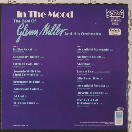 Miller,Glenn: In The Mood-The Best Of, Club Ed., Capriola(46303 4), D, 1983 - LP - X2734 - 5,50 Euro