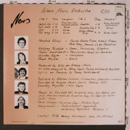 Release Music Orchestra: News, Brain(0060.194), D, 1979 - LP - X2826 - 12,50 Euro