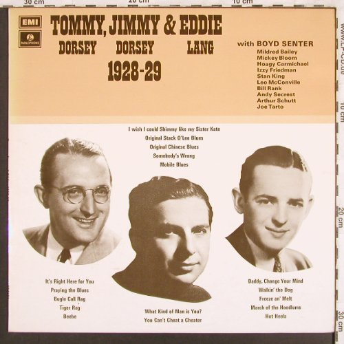 Dorsey,Tommy & Jimmy,Eddie Lang: Tommy,Jimmy and Eddie,1928-29, Parlophone(PMC 7133), UK,  - LP - X3243 - 7,50 Euro