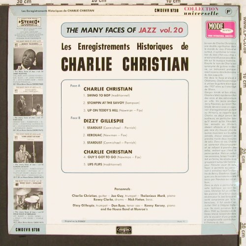 Christian,Charlie / Dizzy Gillespie: The Many Faces of Jazz, Vol.20, Mode(CMDEVR 9738), F, vg+/m-,  - LP - X3255 - 7,50 Euro