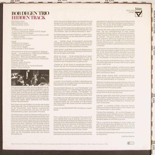 Degen Trio,Bob: Hidden Track, Trion(3103), D, 1981 - LP - X3579 - 15,00 Euro