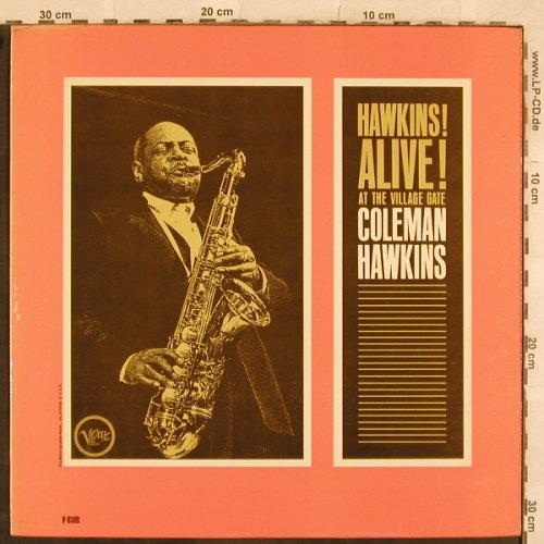 Hawkins,Coleman: Alive!At The Village Gate,OnlyCover, Verve(V-8509), US,  - Cover - X383 - 3,00 Euro