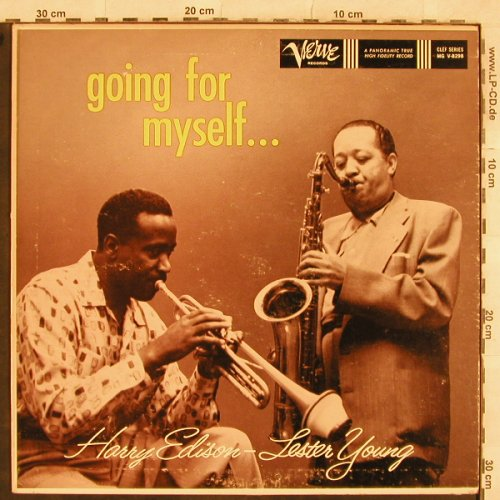 Edison,Harry & Lester Young: going for myself - Only Cover vg+, Verve(MG V-8298), US,  - Cover - X386 - 3,00 Euro