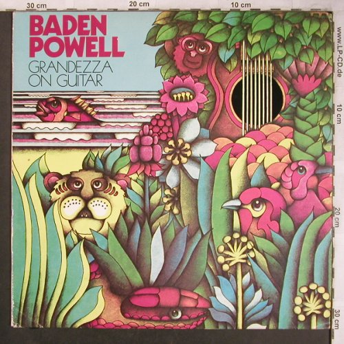 Powell,Baden: Grandezza On Guitar, VG+/m-, CBS(80 141), NL, 1974 - LP - X4590 - 9,00 Euro