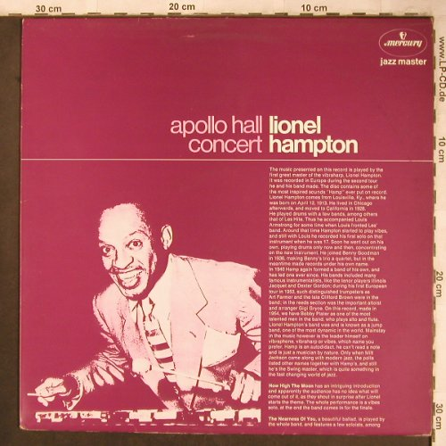 Hampton,Lionel: Apollo Hall Concert (1954), Mercury(6499 356), NL, Ri,  - LP - X4639 - 6,50 Euro