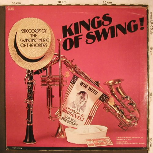 V.A.Kings of Swing: Benny Goodman...Duke Ellington, Pickwick(PTP-2072), UK,  - 2LP - X4675 - 7,50 Euro
