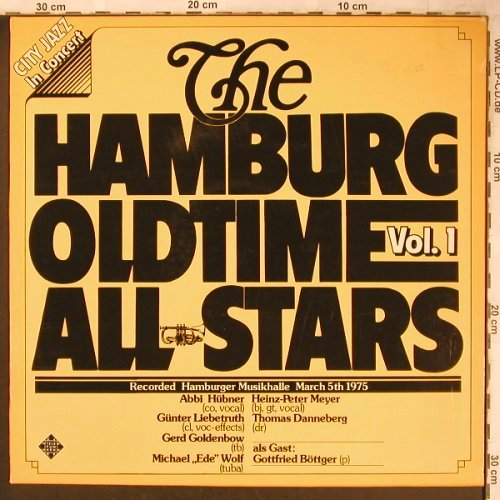 Hamburg Oldtime All Stars: In Concert,Vol.1, Telefunken(6.22299 AG), D, 1975 - LP - X4781 - 7,50 Euro