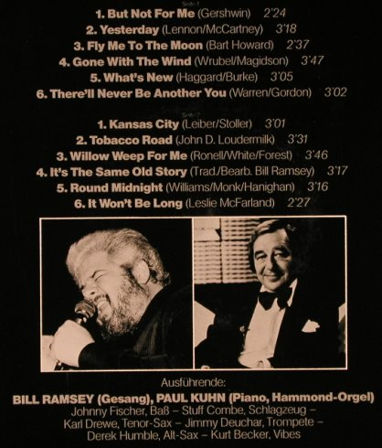 Ramsey,Bill: Ballads & Blues (1965), signiert, EMI Crystal(F 666 902), D, Ri, 1985 - LP - X4837 - 12,50 Euro