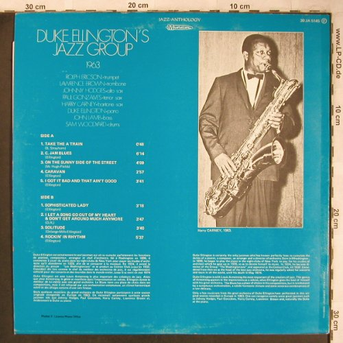 Ellington,Duke - Jazz Group: 1963, Musidisc(30 JA 5145), F, Ri,  - LP - X4910 - 7,50 Euro