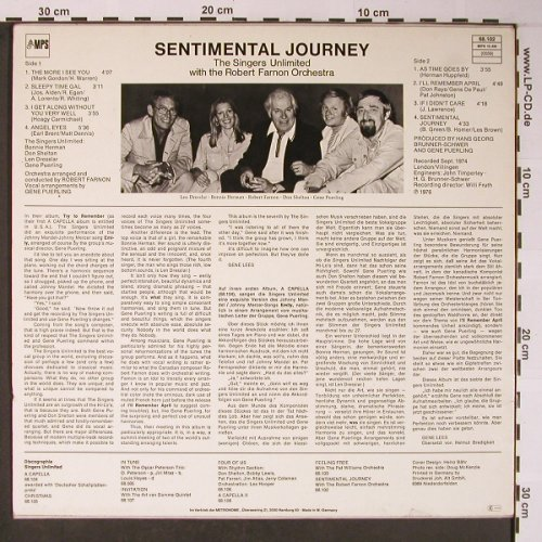 Singers Unlimited/Robert FarnonOrch: Sentimental Journey, MPS(68.102), D, Ri, 1976 - LP - X5923 - 9,00 Euro