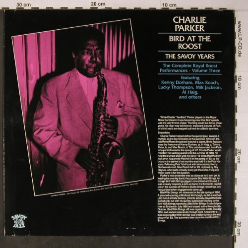 Parker,Charlie: Bird at The Roost-The Savoy Years, Savoy(WL70831), D, Ri, 1986 - LP - X6347 - 12,50 Euro