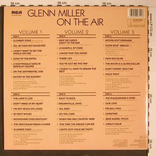 Miller,Glenn: On The Air,Complete(like new), RCA(NL89714(3)), D, 1985 - 3LP - X6505 - 20,00 Euro