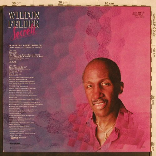 Felder,Wilton: Secrets feat.Bobby Womack, MCA(251 494-1), D, 1984 - LP - X651 - 5,50 Euro