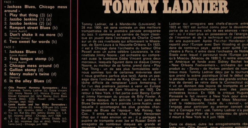 Ladnier,Tommy: Archive Of Jazz Volume 22, BYG(529.072), F,  - LP - X6756 - 7,50 Euro