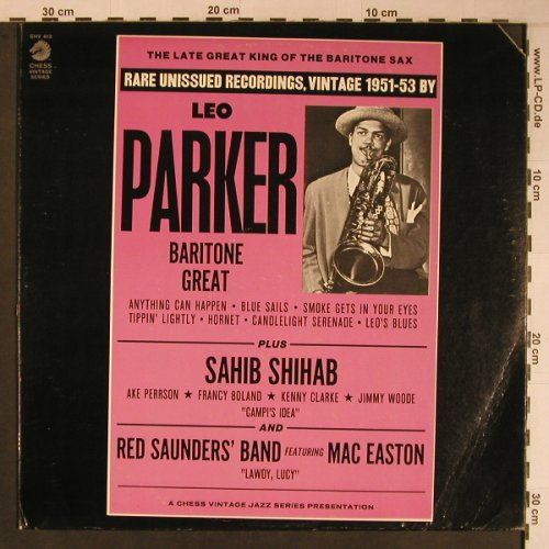 Parker,Leo: The Late,Great,King of the Baritone, Chess(CHV 413), US, Co,  - LP - X6769 - 20,00 Euro