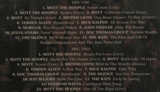 Mott The Hoople: Friends and Relatives, Spitfire(), , 1999 - 2CD - 80185 - 10,00 Euro