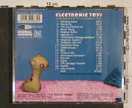 Electronic Toys: A retrosp. Of 70's synthes.music, Indigo(), D, 1996 - CD - 82242 - 7,50 Euro