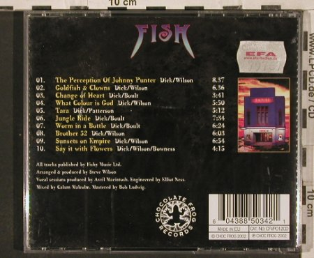 Fish: Sunsets On Empire, ChocFrog(), EU, 2002 - CD - 82252 - 7,50 Euro