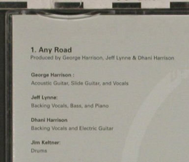 Harrison,George: Any Road by.1Tr. Promo, Parlophone(CDRDJ 6601), EU, 02 - CD5inch - 90131 - 7,50 Euro
