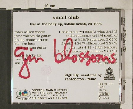 Gin Blossoms: Small Club, Live at the belly up, Home Rec(HR 5913-9), I, 1994 - CD - 90169 - 10,00 Euro