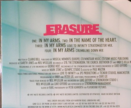 Erasure: In My Arms*3+1, Mute(), NL, 1997 - CD5inch - 95543 - 4,00 Euro