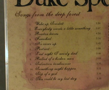 Duke Special: Songs From The Deep Forest, FS-New, V 2(VVR1041442), EU, 2006 - CD - 95965 - 10,00 Euro