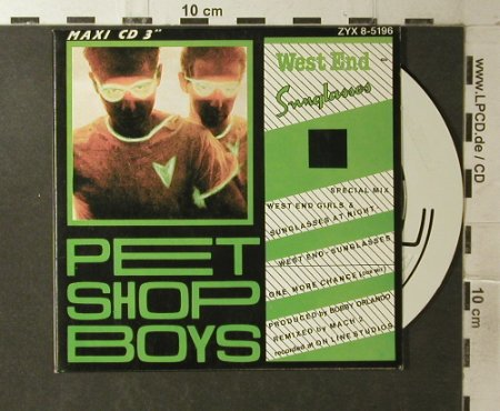 Pet Shop Boys: West End-Sunglasses+1, Digi, ZYX(8-5196), A,  - CD3inch - 96138 - 7,50 Euro