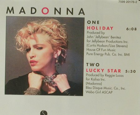 Madonna: Holiday/Lucky Star, Sire(7599 20176-2), D, 1984 - CD5inch - 96443 - 20,00 Euro