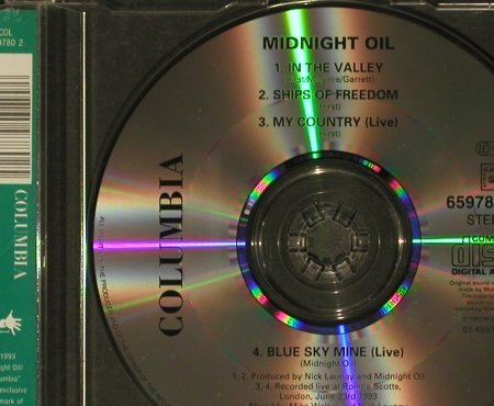 Midnight Oil: In the Valley, Columbia(659 780 2), A, 1993 - CD5inch - 96786 - 4,00 Euro